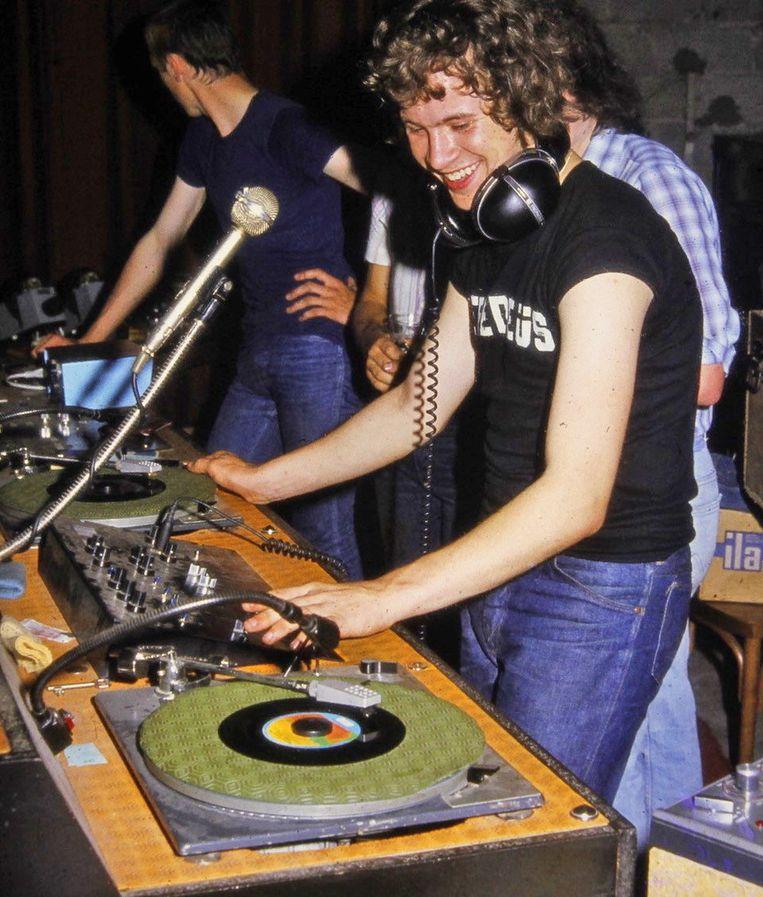 Discobar Zebedeus met Joost Robberechts in 1981.
