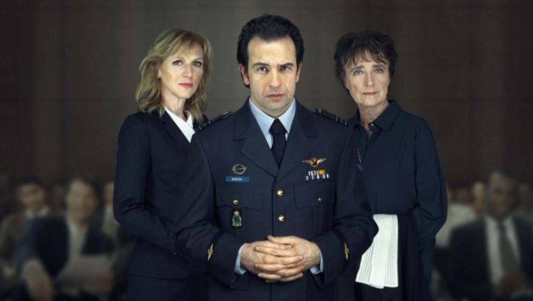 De cast van Terror: Jeroen Spitzenberger, Johanna ter Steege en Clairy Polak. Beeld