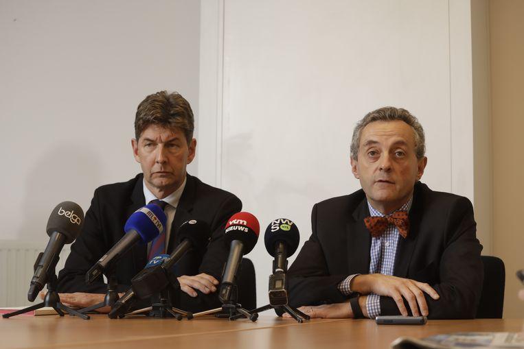Procureur-generaal van Bergen, Ignacio de la Serna, en procureur-generaal van Luik, Christian de Valkeneer.