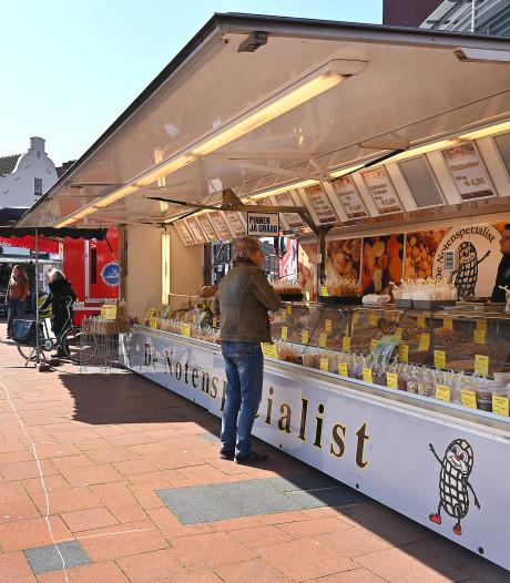 In Boxmeer zijn nog vijf marktkramen over door de coronacrisis