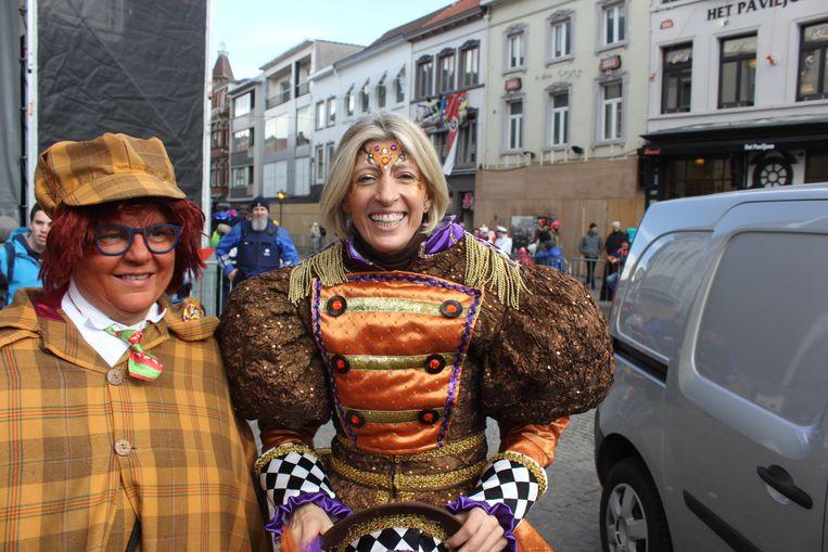 Ilse Uyttersprot tijdens carnaval.