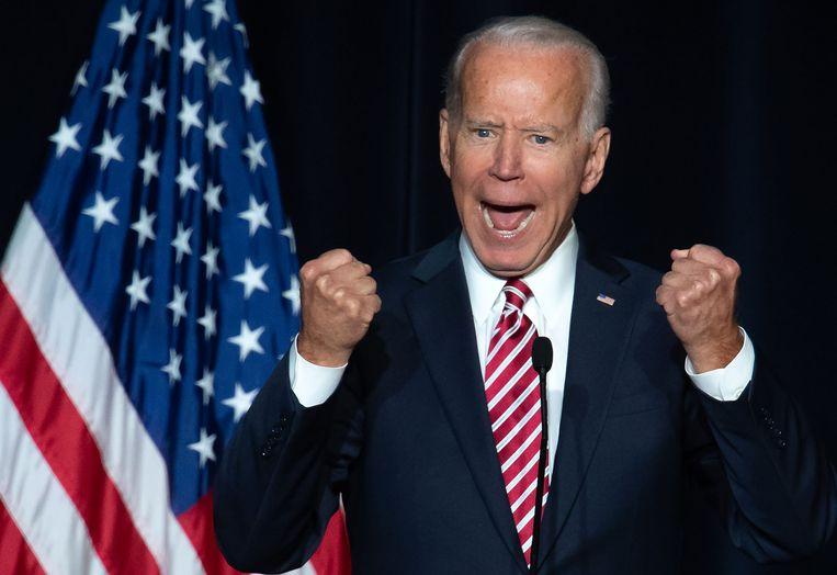 'Sommige kandidaten zullen grote veranderingen beloven. Joe Biden biedt het herstel van de waarden die ons als collectief verbinden.' Beeld AFP