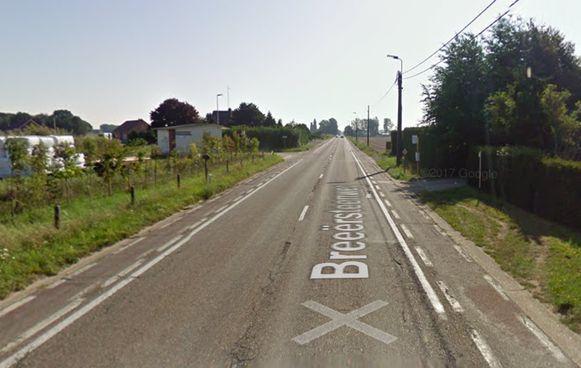 Het ongeval vond plaats op de Breeërsteenweg