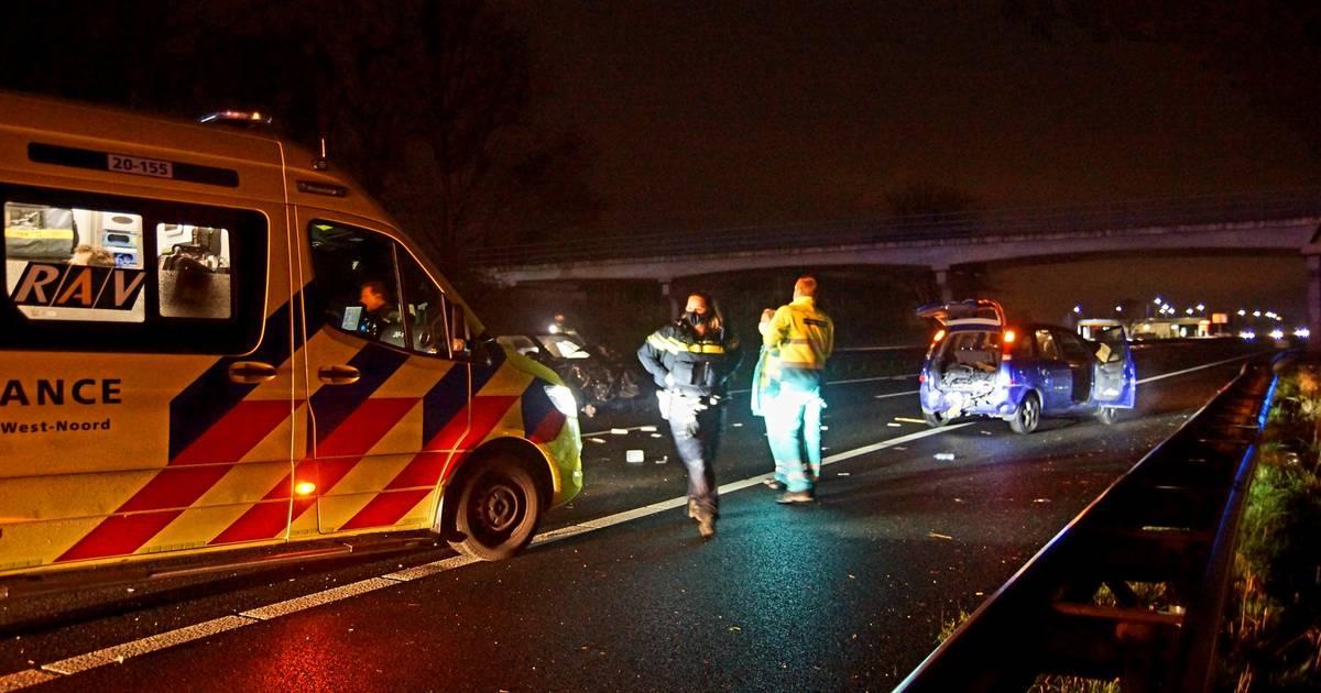 Ravage door ongeluk op A59 bij Sprang-Capelle.