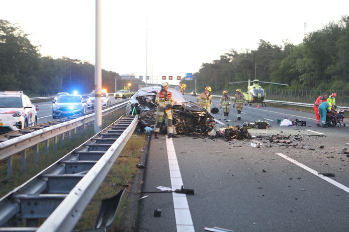 Op de A12 ontstond een ravage nadat de spookrijder was ingereden op het verkeer.