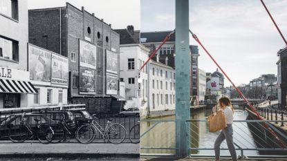 Vroeger en Nu: De Ajuinlei toen er nog geparkeerd kon worden