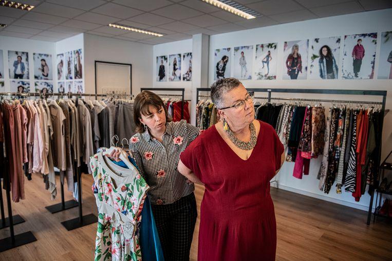 De Outfit Library Less in Arnhem.  Beeld Koen Verheijden