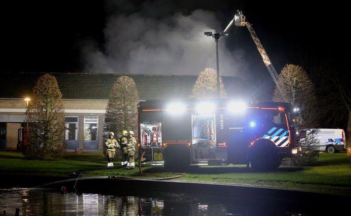 De brand woedde in het gebouw van de technische dienst.