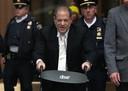 Harvey Weinstein in de rechtszaal in New York.
