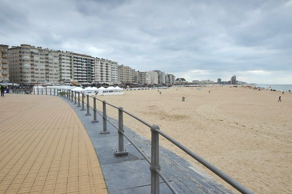 Het strand van Oostende.