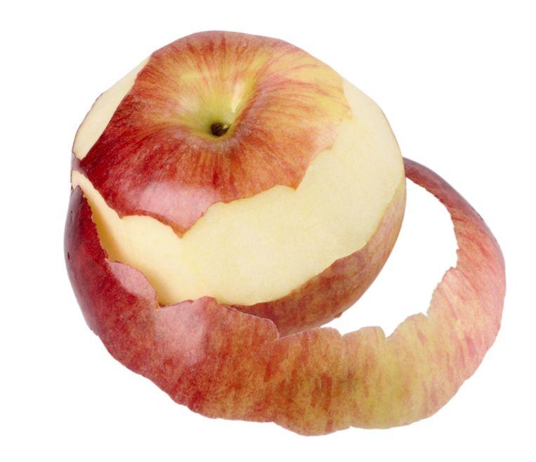 Waarom je een appel nooit moet schillen.