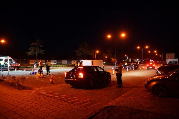 Automobilisten werden aan de kant gezet en moesten blazen.