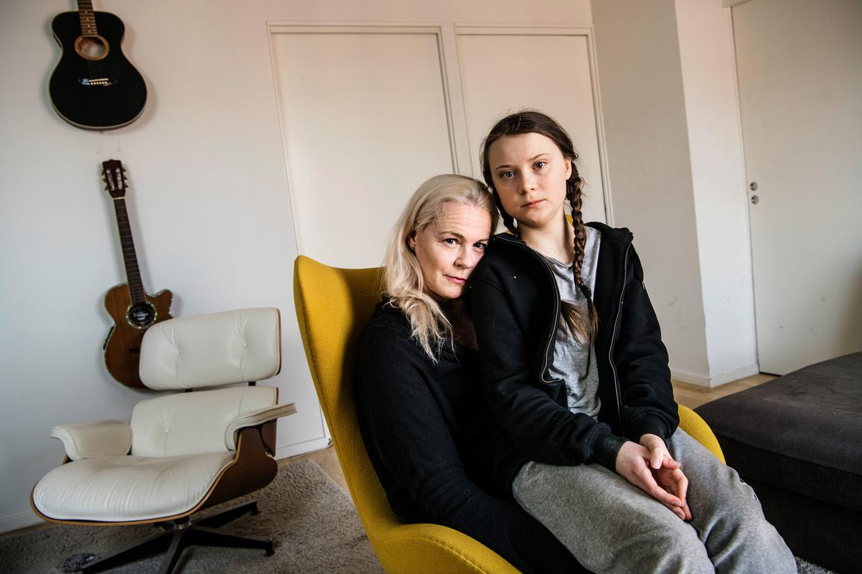 Greta Thunberg met haar moeder, operazangeres Malena Ernman.