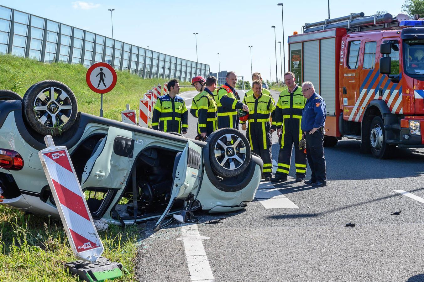 Ongeluk oprit A58.