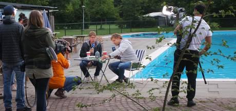Tijdelijke filmset op de camping in Heeswijk-Dinther