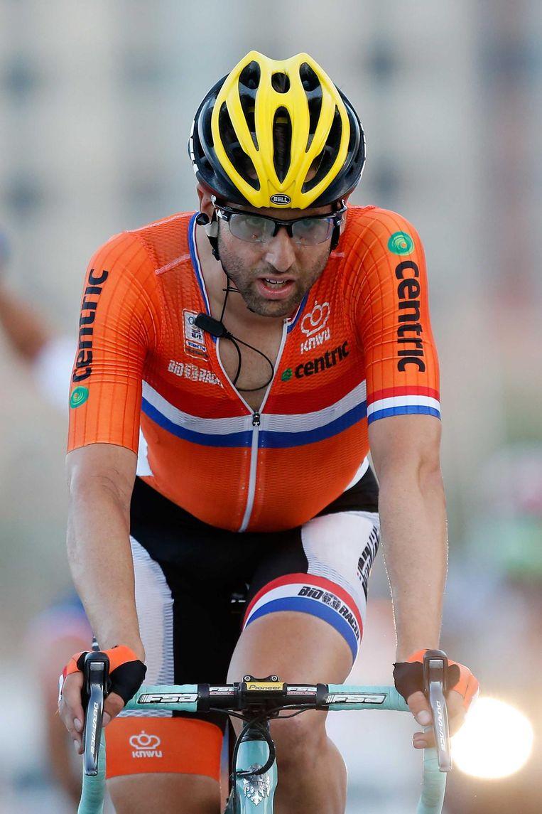 Tom Leezer komt in Qatar over de finish Beeld ANP