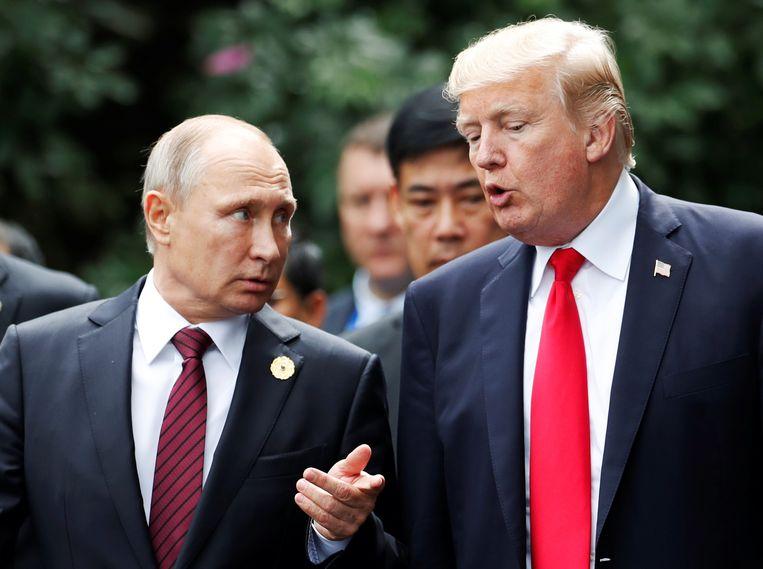 Vladimir Poetin en Donald Trump.