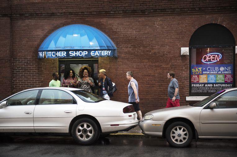 Club One, de gay-nachtclub van de stad. Savannah is altijd de homoplek van het Zuiden geweest Beeld Els Zweerink