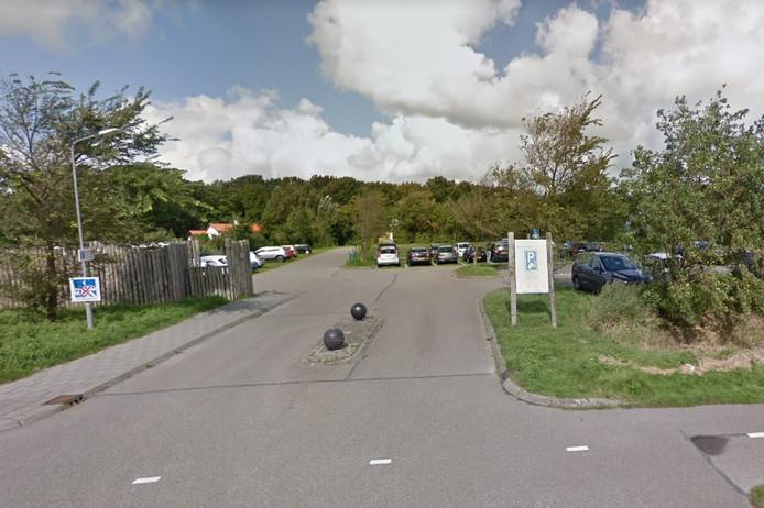Parkeerterrein aan de Galgeweg.