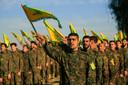 De Libanese beweging Hezbollah wordt gezien als de 'onderaannemer' van Iran in Syrië. AP Photo/Mohammed Zaatari, File
