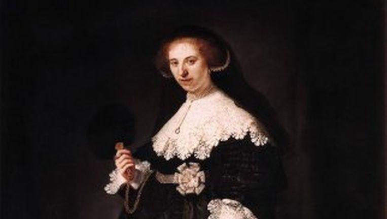 Een van de twee Rembrandt-portretten die het Rijksmuseum en het kabinet willen aanschaffen. Het portret van de 23-jarige Amsterdamse Oopjen Coppit. Beeld