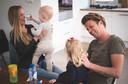Wietze de Jager met zijn vrouw Lieke en zoontje Kees Valentijn en dochter Juul Bettie.