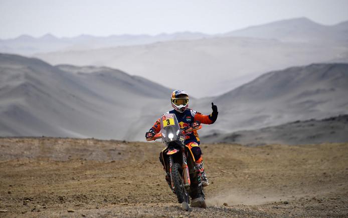Toby Price wint de Dakar Rally bij de motoren.