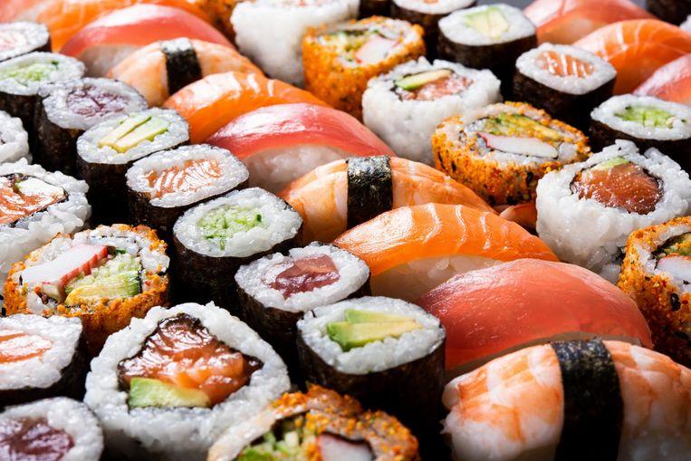 Voor van sushi wordt het een topweekend. Beeld Shutterstock