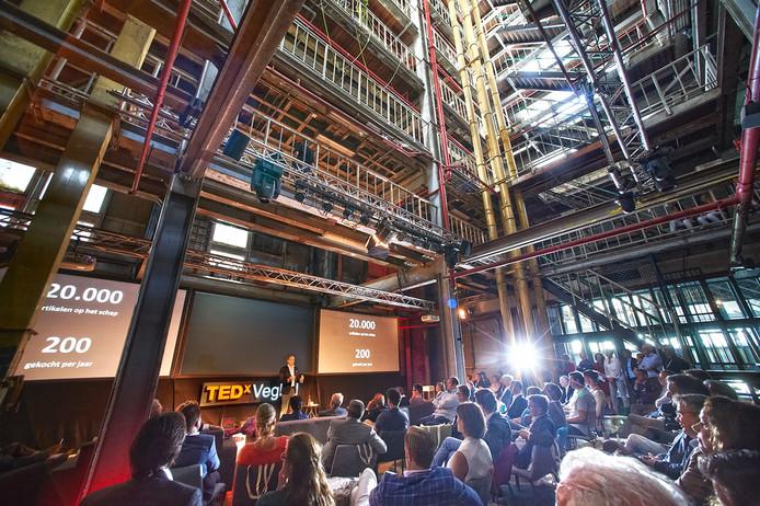 Frits van Eerd tijdens zijn TEDxVeghel speech.