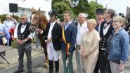 Ruiter Jos Schoovaerts gehuldigd op 42ste paardenprocessie in Werchter