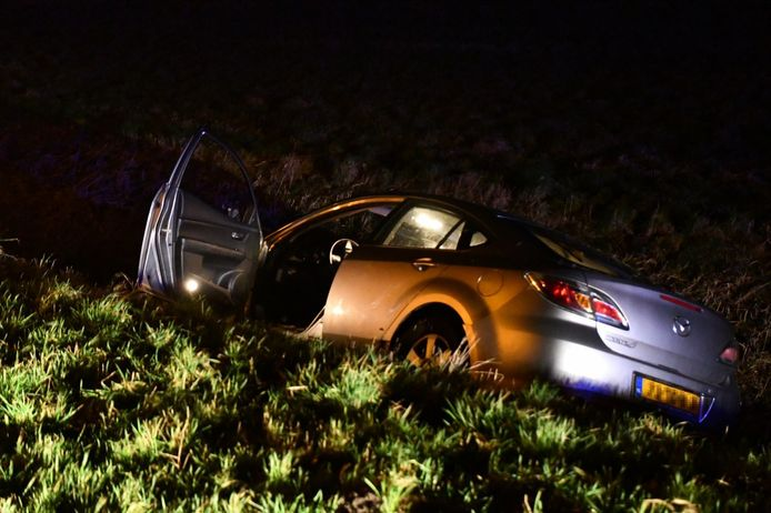 Een eenzijdig ongeval op de Dronterweg vrijdagavond.