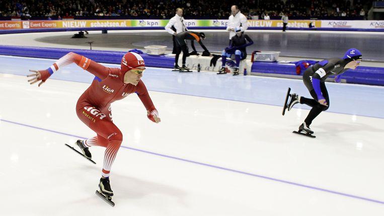 Marianne Timmer in actie op de 500 meter. Beeld null