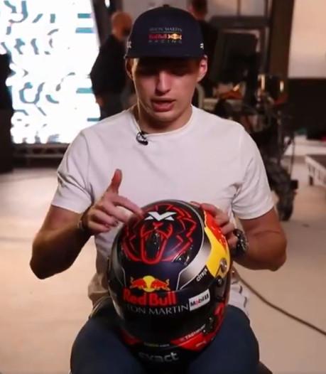 Verstappen toont nieuwe helm