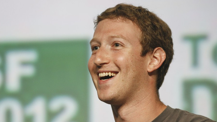 Mark Zuckerberg dinsdag bij de TechCrunch-conferentie in San Francisco.