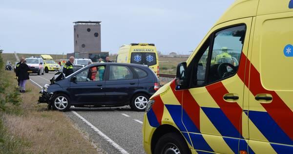 Vijf gewonden bij ernstig ongeluk op de Brouwersdam.