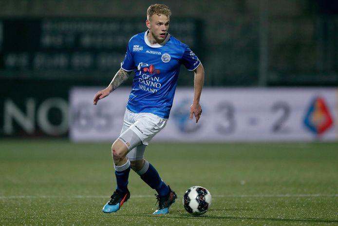 Luuk Brouwers, hier eerder dit seizoen in actie tegen Telstar, doet dinsdag zeker niet mee bij FC Den Bosch. Wie er wel bij zijn, is nog de vraag.