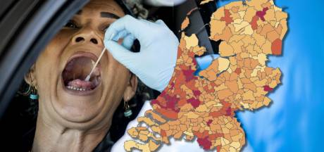 Coronakaart: vijf keer zoveel besmettingen, bekijk hier hoe het zit in jouw gemeente