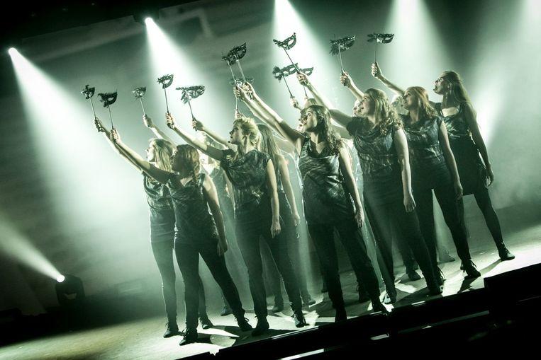 De meisjes van Scala in actie.