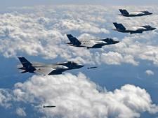 Luchtmacht VS toont bommenwerpers en straaljagers bij Noord-Korea