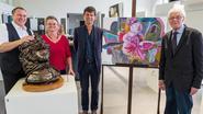 Kunstenaars stellen tentoon in Bumaco