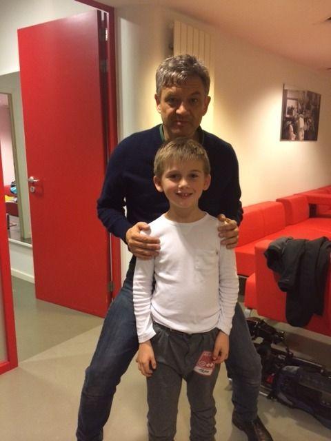 Otto ontmoette Bart Peeters dit jaar al backstage na een concert in de AB in Brussel.