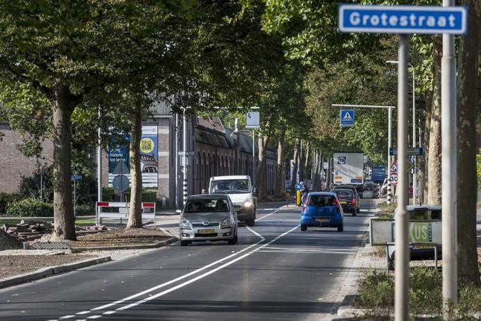 De herinrichting van de Grotestraat levert per saldo iets meer openbaar groen op.