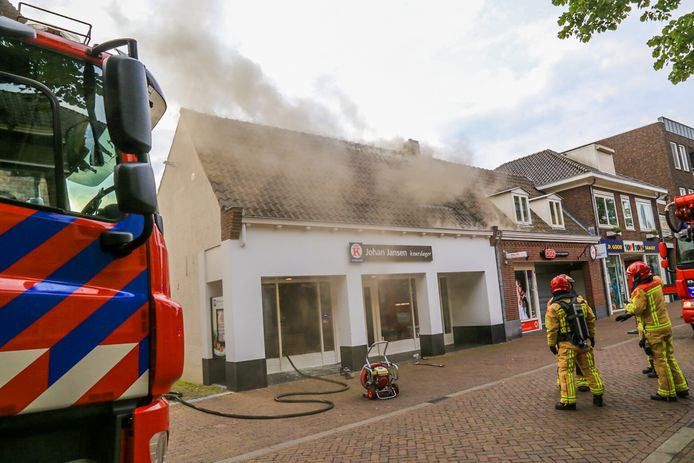 De brand in de Keurslager in Gemert.
