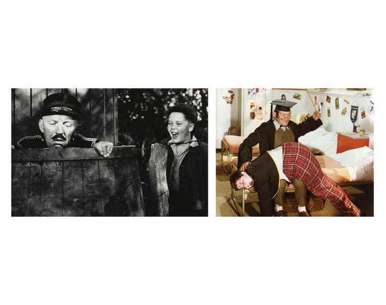 Links: Dik Trom en het circus.  Rechts: Billie Turf. Beeld