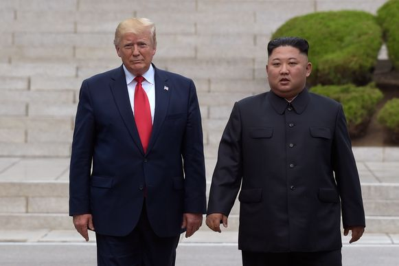 President Donald Trump en de Noord-Koreaanse leider Kim Jong-un in juni 2019.