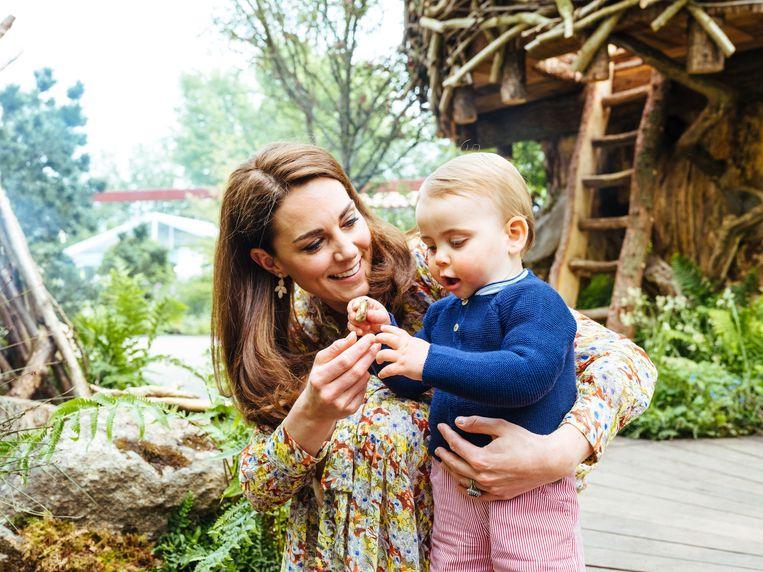 Kate en haar zoontje.