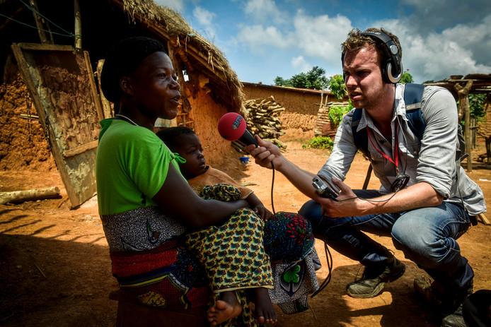 3FM dj Wijnand Speelman in Ivoorkust voor Serious Request
