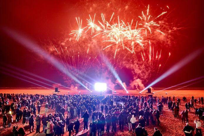 Vuurwerkshow in Hoek van Holland.