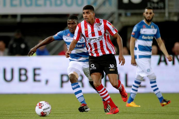 Laros Duarte speelde een sterke tweede seizoenshelft bij Sparta en promoveerde dinsdag naar de eredivisie met de Rotterdamse club.