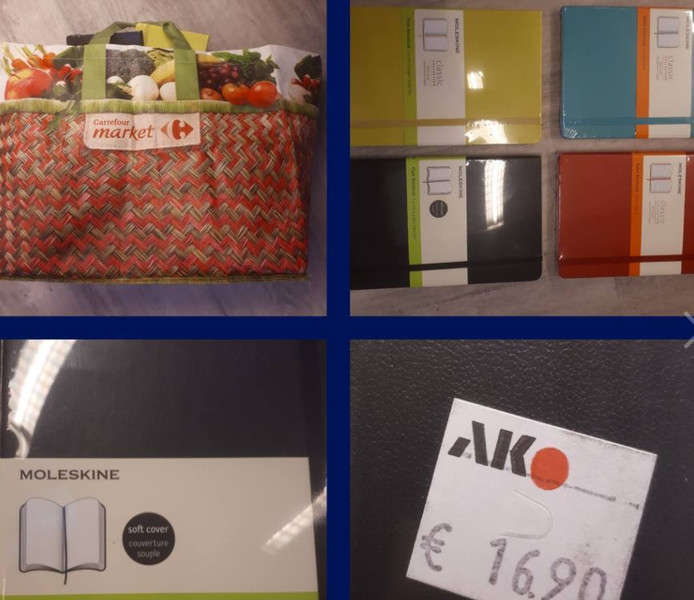 De tas met notitieboekjes in Lelystad.